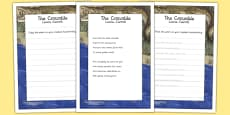 The Crocodile KS2 Handwriting Practice