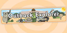 Outback Explorer Role Play Banner