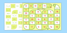 Self-Checking Addition to 20 Board Game