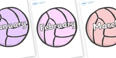Months of the Year on Balls