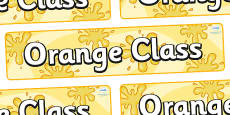 Orange Themed Classroom Display Banner