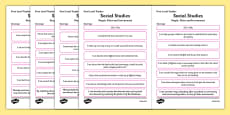 CfE Child Friendly Tracking First Level Social Studies People Place and Environment
