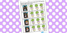The Enormous Turnip Capital Letter Matching Activity