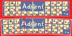 Advent Christmas Display Banner