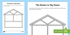 The Rooms in My House Drawing Activity