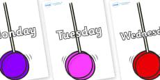 Days of the Week on Yoyo