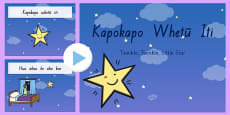 Twinkle, Twinkle, Little Star PowerPoint - Te Reo Māori Songs