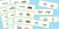 Three Syllable SC/SK Word Cards