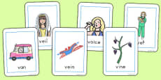 Australia - Initial 'v' Sound Playing Cards