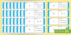 Tarjetas de emparejar: Valor posicional - 2 cifras
