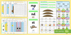 * NEW * Easter Themed Phase 4 Phonics Resource Pack