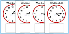 Clock Matching Game - Quarter Past