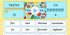 Read and Write Numbers From 1 to 20 in Numerals and Words Game