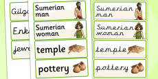 Ancient Sumer Word Cards