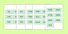 Calendar Dates Labels