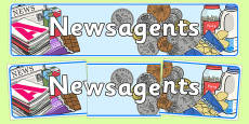 Newsagents Role Play Banner