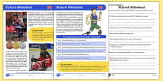 British Paralympian Richard Whitehead Differentiated Reading Comprehension Activity