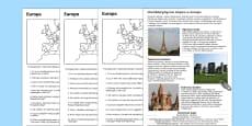 Czytanie ze zrozumieniem Słynne miejsca w Europie