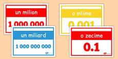 Numerele naturale - Planșe