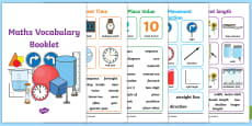 * NEW * Maths Vocabulary Booklet