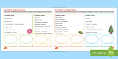 * NEW * Weather in Germany Activity Sheet German