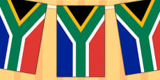 South Africa Flag Display Bunting