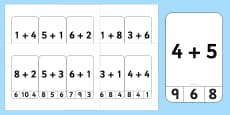 Addition to 10 Peg Activity