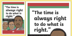 Martin Luther King Inspirational Classroom Quote Display Poster