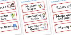 Ginko Tree Themed Editable Maths Area Resource Labels