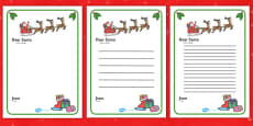 Letter to Santa Template Arabic Translation