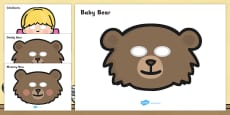 Goldilocks and the Three Bears Story Role Play Masks