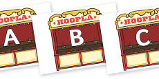 A-Z Alphabet on Hoopla Stands