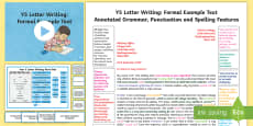 * NEW * Y5 Letter Writing: Formal Model/Example Text