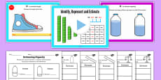 Year 4 Identify Represent Estimate Lesson 4 Estimating Measures Teaching Pack