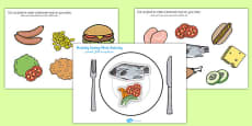 Healthy Eating Meal Activity Arabic Translation