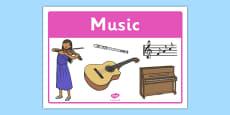 Music Classroom Area Sign