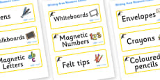 Toucan Themed Editable Writing Area Resource Labels