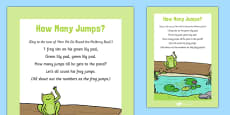 How Many Jumps Frog Rhyme Sheet