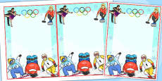 Winter Olympics Editable Notes