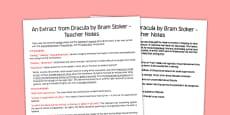 Dracula Extract Teachers Notes