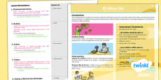 PlanIt - French Year 3 - All About Me Planning Overview