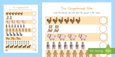 The Gingerbread Man Counting Activity Sheet