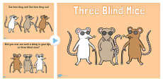 Three Blind Mice Nursery Rhyme PowerPoint