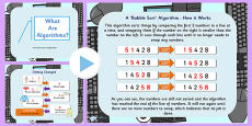 ICT What is an Algorithm Introduction PowerPoint