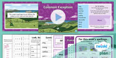 * NEW * PlanIt English Y2 Term 3A W6: Common Exception Words Spelling Pack