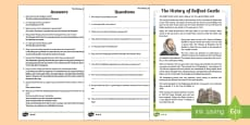 * NEW * The History of Belfast Castle Differentiated Reading Comprehension Activity