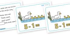 Five Little Ducks Number Sentence Frames