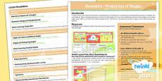 PlanIt Y4 Properties of Shape Unit Overview