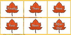 Time Conjunctions on Autumn Leaves