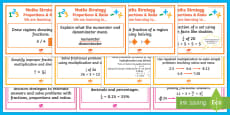 Fractions, Ratio and Proportion WALT Cards Stages 5 - 7 Display Pack